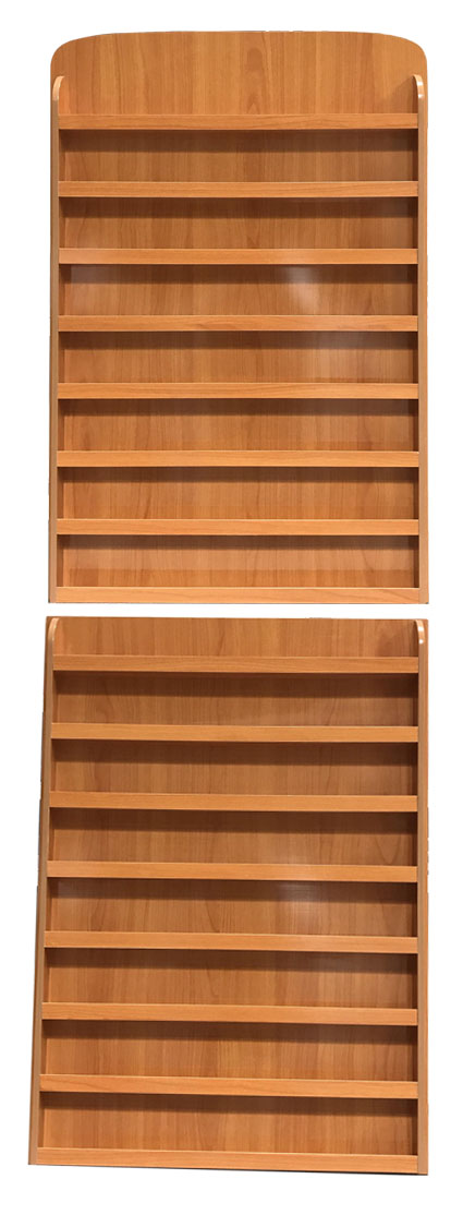 Rectangle - Wall Polish Rack - Dark Wooden Color 2 in 1 (240 bottles)