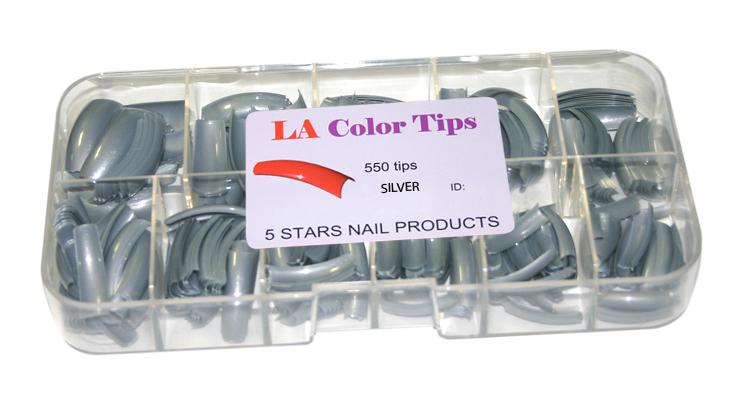 LA Color Tips - 20 - Silver 550 Tips