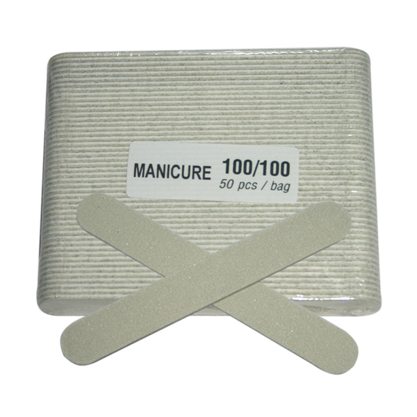 Manicure File - Thin Small White (80/80) 1case/100 Bags
