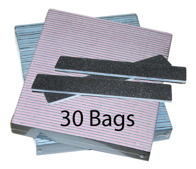 JUMBO Nail File- Square Black - 100/100 - 50ct/bag (30 bags)
