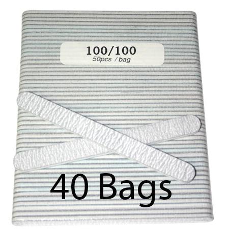 Nail File - Zebra 100/100 - 50 pcs (40 bags)
