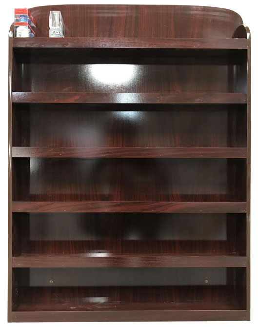 SS - Wall Polish Rack - Chocolate Color (102 Set = 204 Bottles)