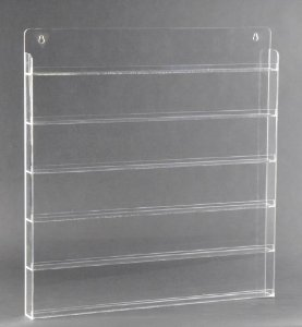 Plastic Wall Polish Rack - Clear (90 bottles)