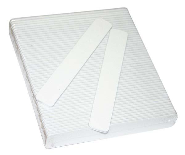 JUMBO Nail File - Square White - 80/80 - 50ct/bag